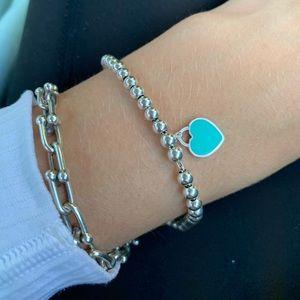 Return to Tiffany small heart mini bead bracelet